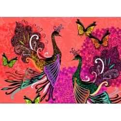 Peacocks+Butterflies, Heye puzzel 1000 stukjes