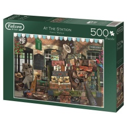At the Station, Falcon de luxe puzzel 500 stukjes