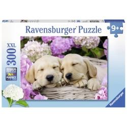 Schattige hondjes in een mand 300stukjes Ravensburger