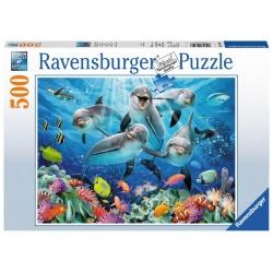 Dolfijnen in het koraalrif 500stukjes Ravensburger