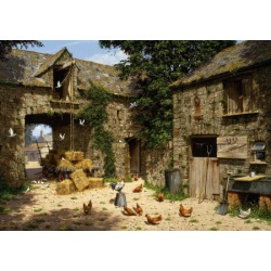 Farmyard Scene - Edward Hersey wentworth 40st