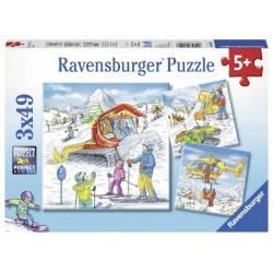Op de skipiste 3x49 stukjes Ravensburger