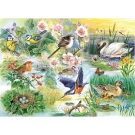 Feathered Friends, Hop Puzzels 250st XL stukken