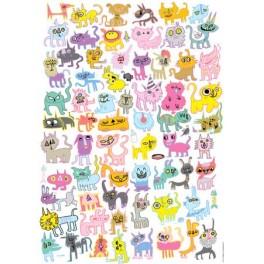 Heye Puzzel 100stukjes  Doodlecats  By Jon Burgerman