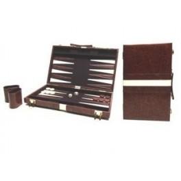Backgammon bruin met bies