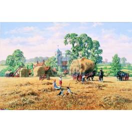 House of Puzzles. 500stukjes  Alles unieke stukken.  Hay Making  The Ruxley Collection  34*48cm