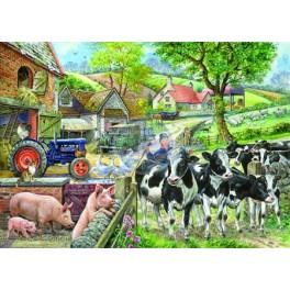 "House of Puzzles.BIG 500stukjes Oak Tree Farm  ""The Pencraig Collection """