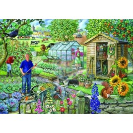 "House of Puzzles.BIG 500stukjes  At the Allotment  ""The Pencraig Collection ""  Afmeting van 68*48cm"