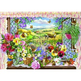 "House of Puzzles.BIG 500stukjes  Harvest view  ""The Pencraig Collection ""  Afmeting van 68*48cm"