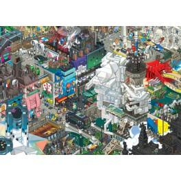 Heye Puzzel  1500stukjes  Cartoon Puzzels *Paris Eboy*  Driehoekdoos