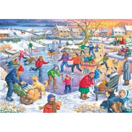 "House of Puzzles  500 stukjes   "" Ice Skating ""   The Kinkell Collection"