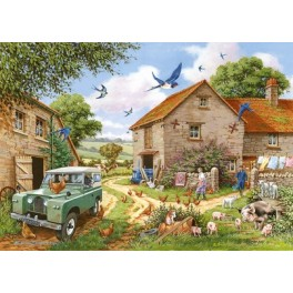 "House of Puzzles   500 xxl stukjes   "" Farmer`s Wife ""   The Kinkell Collection"
