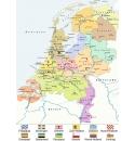 Nederland kaart (CITO) 100 stukjes