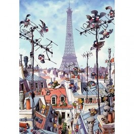 Eiffel Tower, Loup Heye Puzzel 1000stukjes