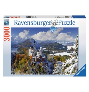 Ravensburger 3000stukjes  Slot Neuschwanstein in winter  afm. 121*80cm