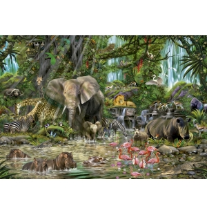 Educa Puzzel  2000stukjes  African Jungle  Afmeting: 96*68 cm