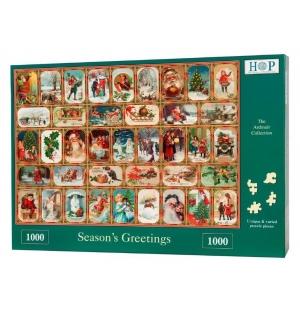 Season`s Greetings  Hop puzzel