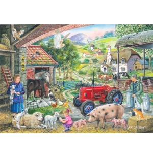 On the farm Hop puzzel