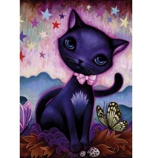 Black Kitty heye puzzel  1000stukjes