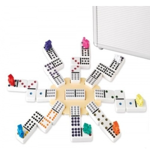 Domino Dubbel 12 Mexican-Train Alu koffer: HOT Games