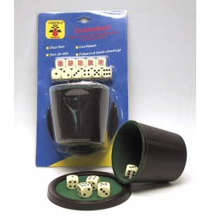 Dobbel/poker beker set