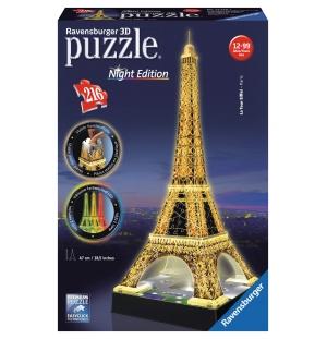 Eiffel toren Night 3D ravensburger 216stukjes