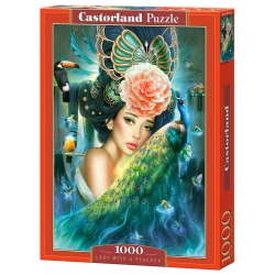 Lady with a Peacock, 1000stukjes Castorland