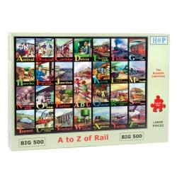 A to Z of Rail,The House of Puzzles 500xxlstukjes