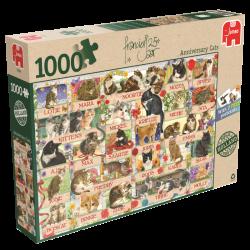 Francien`s Katten Jubileum , jumbo 1000stukjes