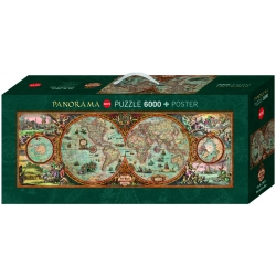 Wereldkaart  classic  , Heye Puzzel 6000stukjes