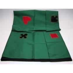 Kaartkleed groen 120*120cm