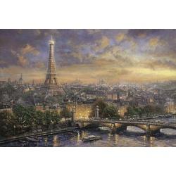 Parijs, Stad der liefde Thomas Kinkade  1000st