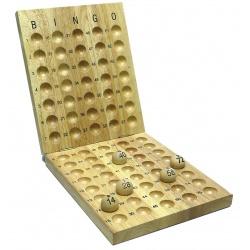 Bingo aflegbord  hout 24mm 75ballen