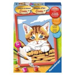 Kat in Mand, serie E schilderen op nummer