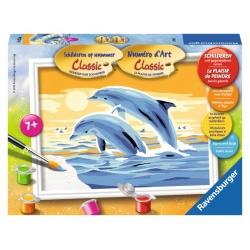 Springende Dolfijnen, serie E schilderen op nummer