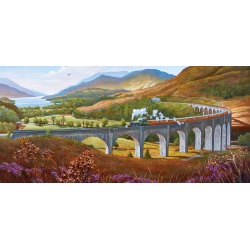 Glenfinnan Viaduct puzzel by Mike Jeffries