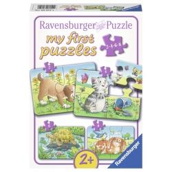 Schattige Huisdieren 2+4+6+8 stukjes Ravensburger: My First Puzzles
