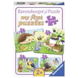 Dieren in de tuin 2+4+6+8 stukjes Ravensburger: My First Puzzles