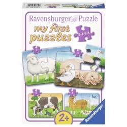 Boerderijdieren 2+4+6+8 stukjes Ravensburger: My First Puzzles