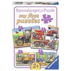 Op het werk 2+4+6+8 stukjes Ravensburger: My First Puzzles