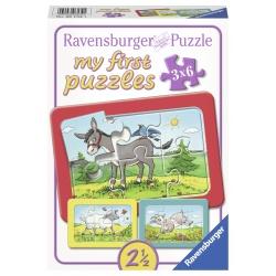 Ezel, Schaap & Geit 3x6 stukjes Ravensburger: My First Puzzles