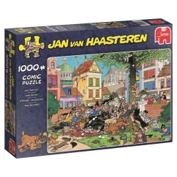 Vang die kat  Jan van Haasteren 1000stukjes