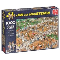 De tennisbaan Jan van Haasteren 1000stukjes