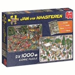 Jan van Haasteren Kerstcadeautjes + gratis zoekboek 2x 1000 stukjes